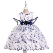 Ballgown Lace Navy Blue FLower Girl Dresses for Party  Ball Gown Kids Formal Wear Princess Birthday Gowns Dresses real picture 2018 flower girl dresses purple sleeveless 3d applique kids formal wear princess pageant dresses birthday gown