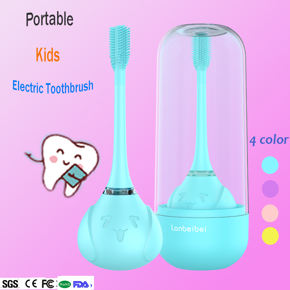 Child 3 sided electric toothbrush rechargeable for 2-10 years old soft brush 360 automatic kids electric toothbrush