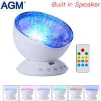 AGM océan vague ciel étoilé Aurora LED veilleuse projecteur Luminaria nouveauté lampe USB lampe veilleuse Illusion pour bébé enfants