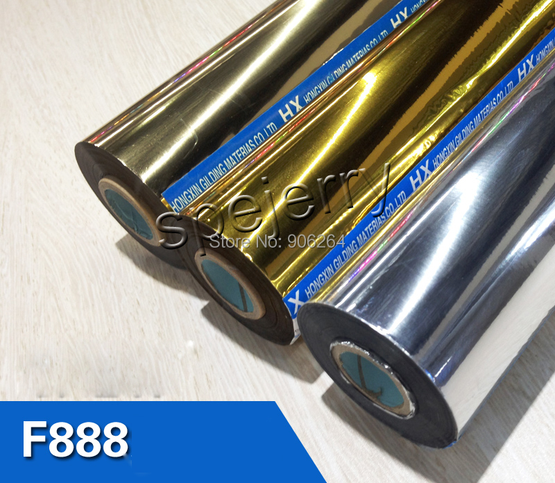 ФОТО Time-limited Aluminum Hot Foil Gold Hot Stamping Foil Imported From Japan 64cm*120m