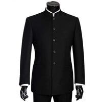2018 Brand Men Suits Big size Chinese Mandarin Collar Male Suit Slim Fit Blazer Wedding Terno Tuxedo 2 Pieces Jacket & Pant