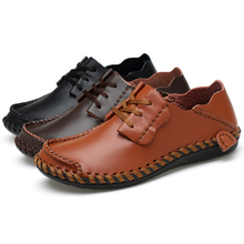 Fotwear Men Leather shoes casual Holes on upper Breathable Spring Summer Casual Oxfords Slip-Ons Outdoor city fashion