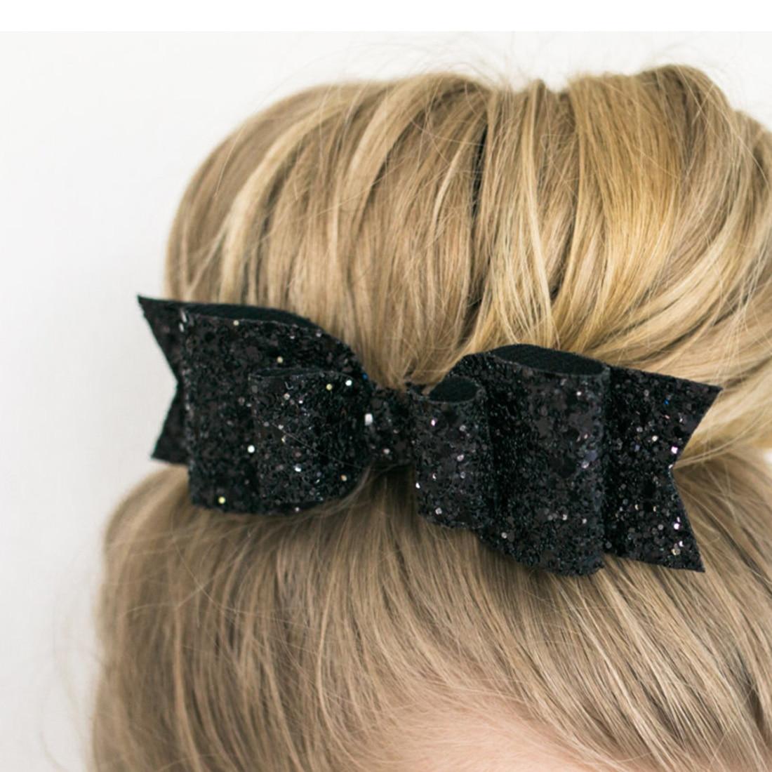 Women Big Bowknots Hair Bow Clips Sequin Girls Barrette Hairpins Hair Clips Gift