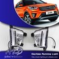 One-Stop Shopping Creta DRL LEVOU Luz de Circulação Diurna para Hyundai Novo IX25 LED DRL Car Nevoeiro Lâmpada Automotiva acessórios
