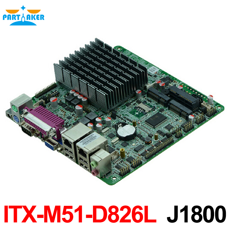 Based on Bay trail SOC platform motherboard with onboard cpu mini itx mainboard with J1800 CPU Fanless designed купить