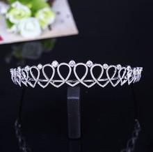 MANWIIEuropean Korean wedding bride zircon crown hair hoop crown accessories Photo Studio PhotosAQ2200