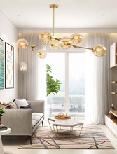 BOKT Modern Hot Glass Pendant Light Nordic Dining Room Kitchen Designer Hanging Lamps Avize Lustre Lighting