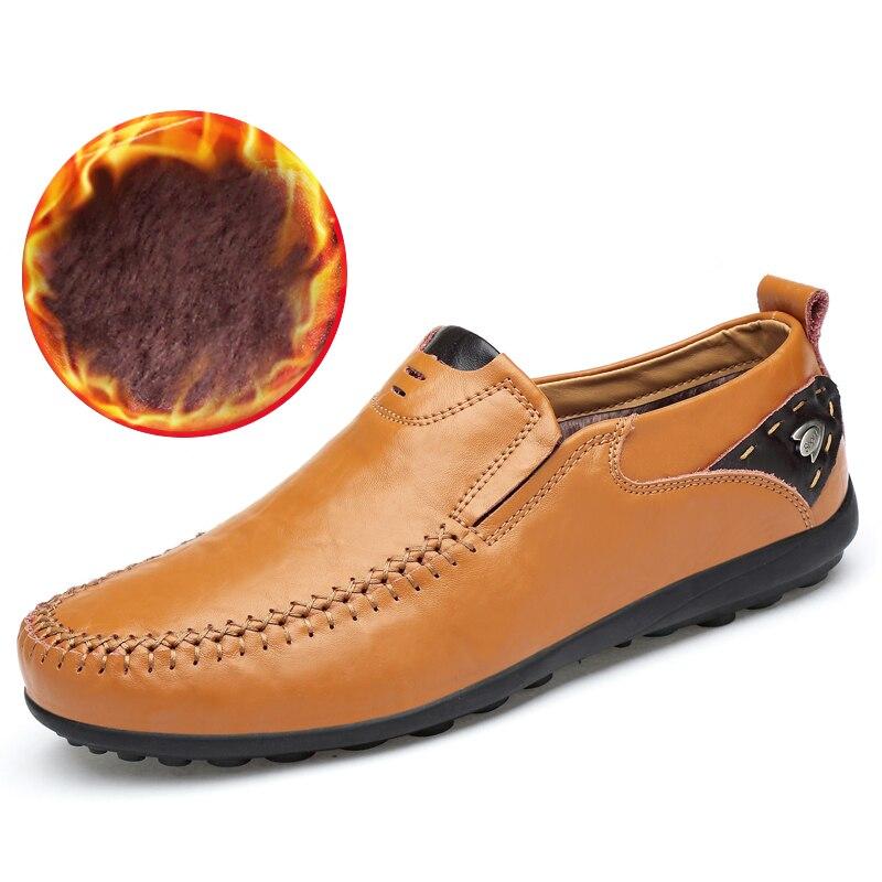 Nouveau Respirant Marque Mocassins Hommes En Cuir Casual Chaussures D'été Haute Qualité Adulte Glissement sur Mocassins Hommes Sneakers Homme Chaussures 46