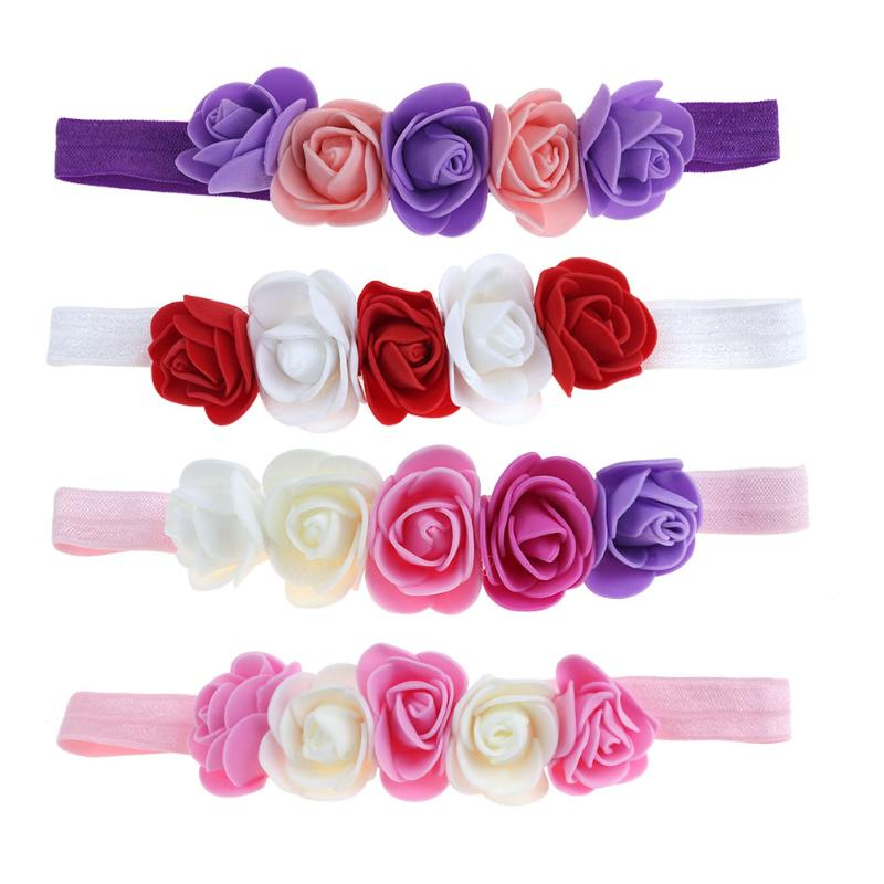 где купить Baby Hair Bands for Girls Flower Headband Handmade DIY Headwear Hair accessories for Children Newborn elastic hair accessories по лучшей цене
