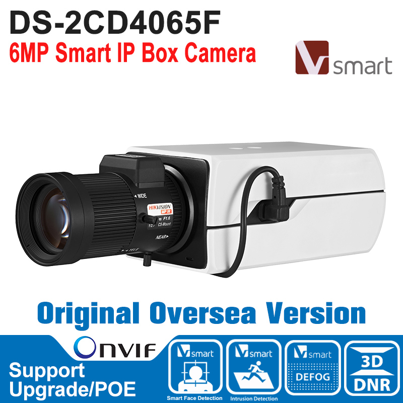 HIK IP Camera 6MP DS-2CD4065F IP Camera POE 6MP Smart IP Box Camera IP Camera Built-in Micro SD/SDHC/SDXC Card H.264+ лобзик союз лбс 4065