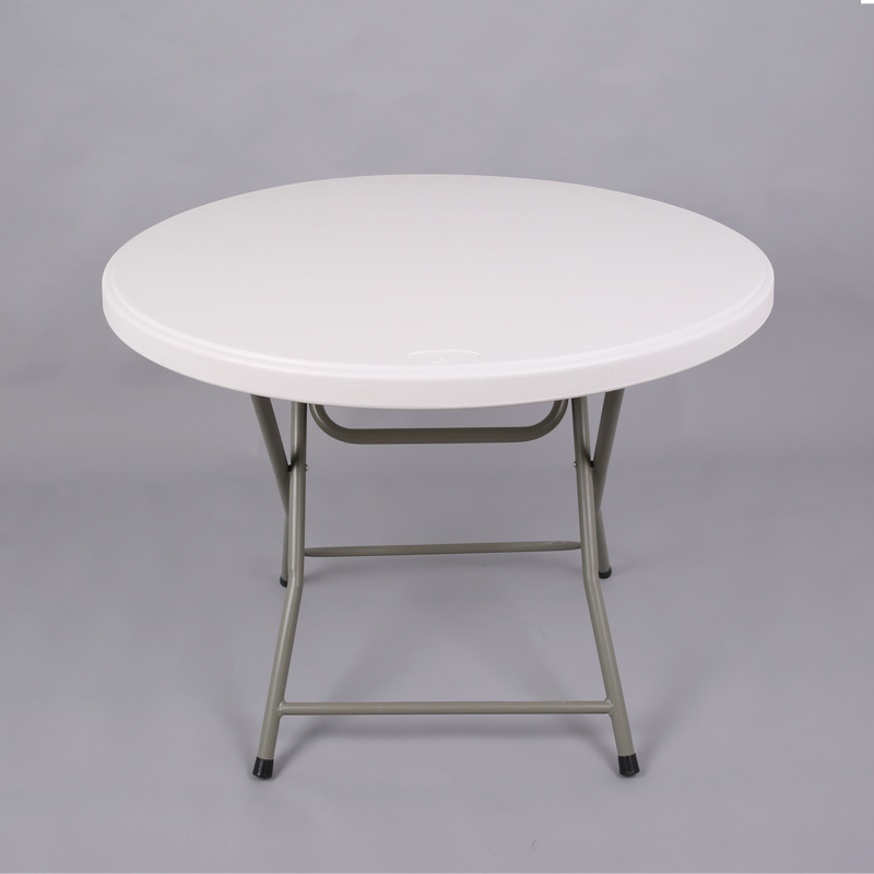 HDPE plastic round folding table for hotels restaurant home and outdoor 95Y