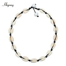 HIYONG Summer Beach Natural Shell Choker Necklace,Handmade Cowrie Boho Jewelry for Womens and Girls Gift