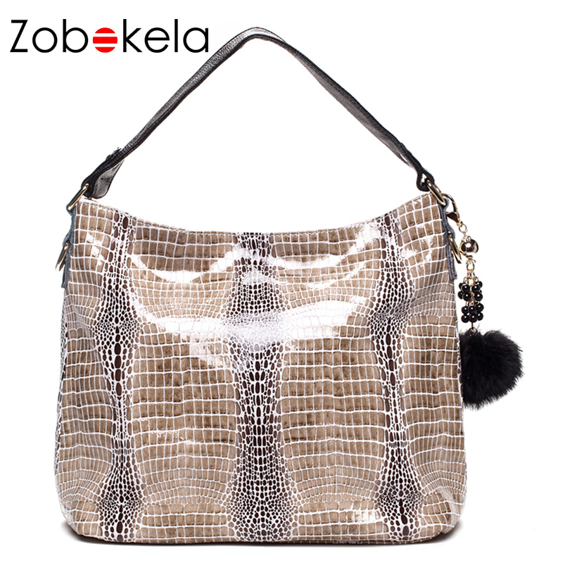 Zobokela Snake Genuine Leather Bag Female Purses And Handbag Women Bag Crossbody Bags For Women Shoulder Bag Messenger Fur Tote halloween skull printing women crossbody shoulder bag pu leather skull design women messenger bags handbag and purses