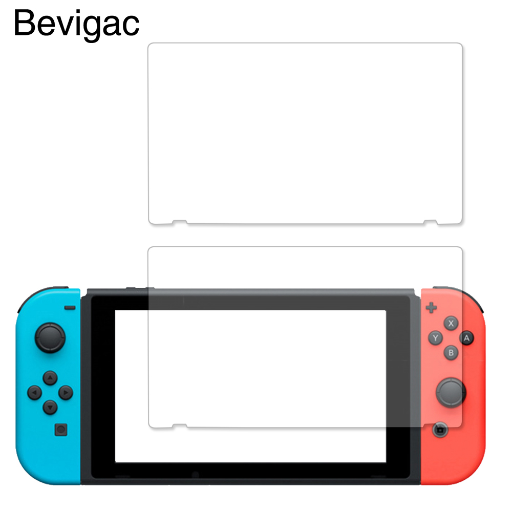 Bevigac 2pcs/Set Full HD Ultra Clear Protective Guard Film for Nintendo Switch NS NX Console Screen Protector Game Accessories