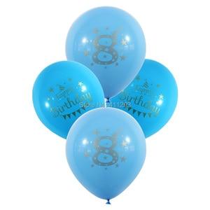 Image 4 - 12pcs/lot Kids Birthday balloon writting number 1 2 3 4 5 6 7 8 9 years old  1st 2nd Birthday party  digital ballon Latex Globos