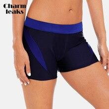 Charmleaks Women's Boardshort Swimming Shorts Patchwork Color Bikini Bottom Swimwear Briefs Split Tankini Swimwear Trunks split tankini set