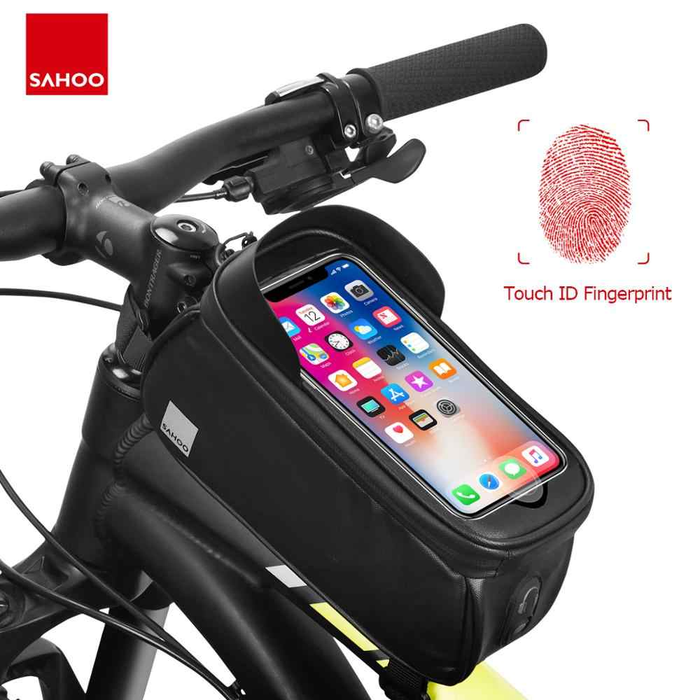 Touchscreen Bicycle Bike 6.5in Phone Bag Front Frame Top Tube Pouch Pannier Pack