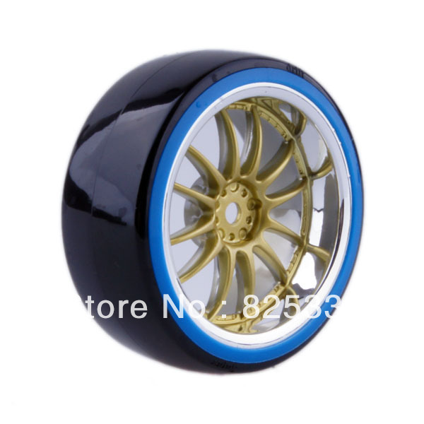 4pcs RC Hard Tires Tyre Wheel Rim Fit HSP HPI 1:10 On-Road Drift Car