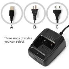 US/EU/USB Walkie Talkie Unique Battery Charger Baofeng Transportable Two Approach Radio BF- 888S Equipment DC5V-500mA