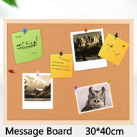 4pcs Cork Board Brown Bulletin Board 6mm Cork Message Board Nail Style Notice Board 30 30cm