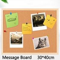 4pcs Cork Board Brown Bulletin Board 6mm Cork Message Board Nail Style Notice Board 30 30cm