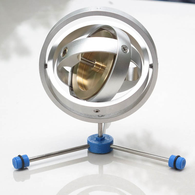 Three-axis Gyroscope Three-degree-of-freedom Stabilizer Mechanical Inertial Guidance Demonstration Device Rotary Angularmomentum