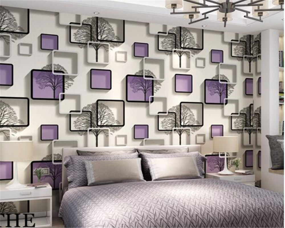 beibehang  wall papers home decor 3D PVC Bedroom Living Room TV Background Wall Grid Squares Abstract Wallpaper  papel de parede custom papel de parede sea sunrises and sunsets sky wallpaper restaurant living room sofa tv wall bedroom wall papers home decor