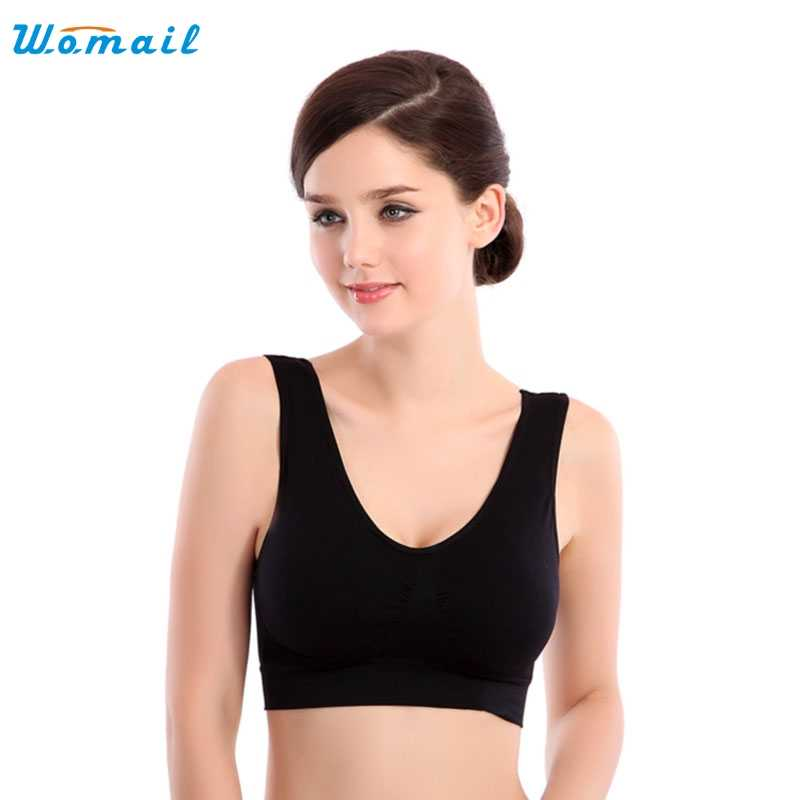 2017 Best Deal   Hot Womens yoga crop tops lady Thin No Mat Athletic Vest Fitness Sports Yoga Stretch Bras Good-looking AU19X7