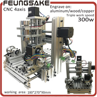 4Axis Cnc Router MACH3 Control Work 155x285x70mm Pcb Milling Machine Stone Wood Router CNC Carving High