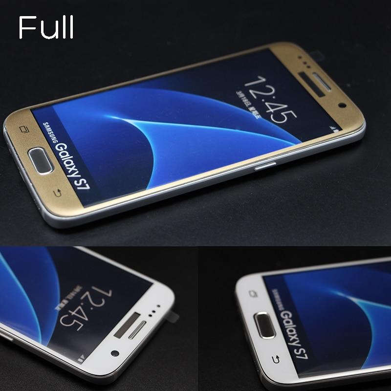 10Pcs/lot <font><b>Tempered</b></font> <font><b>Glass</b></font> For Samsung Galaxy S7 9H Hardness 3D <font><b>Curved</b></font> <font><b>Surface</b></font> <font><b>Full</b></font> Cover <font><b>Body</b></font> Screen Protector Film