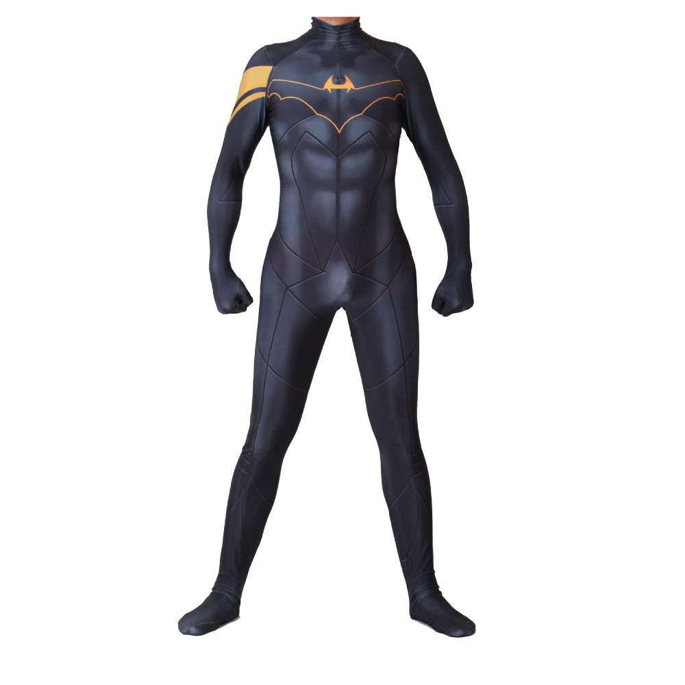 Movie Batman Superhero Cosplay Costume Halloween Spandex Full Body Jumpsuit Suit Bodysuit Fancy Carnival Party Costume Suit