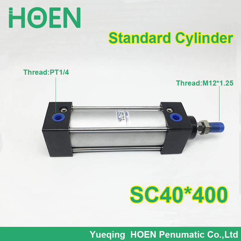 SC40*400 40mm Bore 400mm Stroke SC40X400 SC Series Single Rod Standard Pneumatic Air Cylinder SC40-175 sc63 400 s 63mm bore 400mm stroke sc63x400 s sc series single rod standard pneumatic air cylinder sc63 400 s