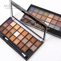 Miss rose marca de moda 24 cores da paleta da sombra matte paleta de maquiagem brilho sombra de olho colorido cosmeitcs estilo com escova