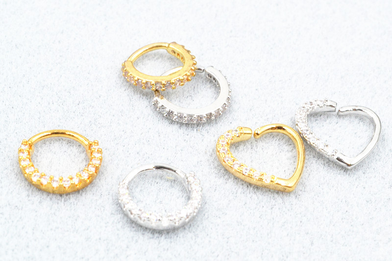 50pcs lot Free Shipping Segment Ring Nose Hoop Rings Ear Cartilage Helix Diath Upper Earring NEW