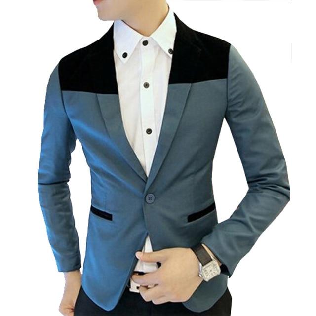c123dce5b2d 2015 Top Suit Jacket For Men Terno Masculino Suit Blazers Jackets Traje  Hombre Men's Casual Blazer 2 Colors SizeM-XXL
