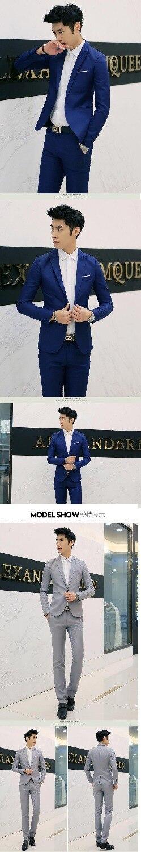 Set Slim Formelle Veste Costumes Hommes Coréen De Costume Color 2019 Same Sur Mariage Photo Mesure Faits Casual Marié Fit Robe Color same w7qIpnAx