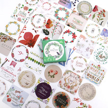 Creative Flower Paper Sticker Decoration DIY Diary Scrapbooking Planner Gift Packing Seal Kawaii Stationery 46pcs/box