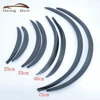 HB 2 Pçs/set Estilo de Fibra de Carbono Fender Flares Universal Roda Arch Sobrancelhas Proteger Ant-Zero