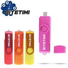 Biyetimi Smart Phone USB Flash Drive Metal Pen Drive 64gb pendrive 8gb OTG external storage micro usb memory stick Flash Drive