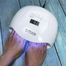 新しい SUN5 X プラス 108 ワット Led Uv ランプ Daul 手マニキュア 36 Led 乾燥機 SUNUV 自動センサー爪 Dryering ネイルアートツール