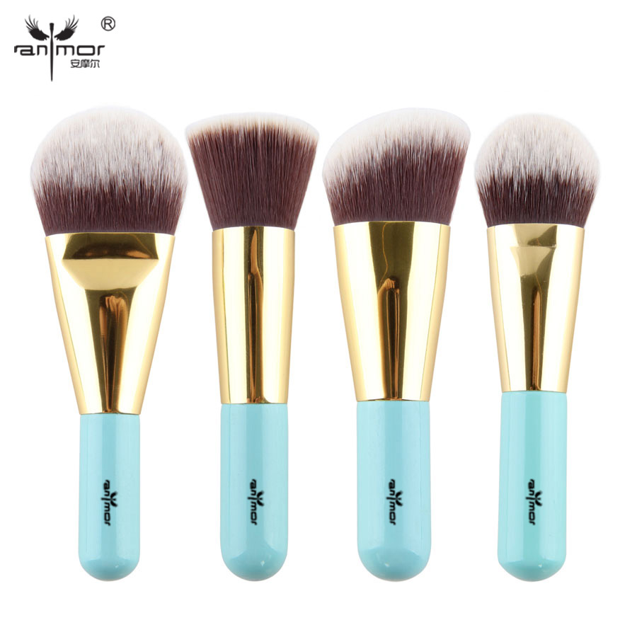 цены High Quality 4 pcs Kabuki Brushes Synthetic Hair Make Up Brush Foundation Makeup Brush Set Travel Kit Y002