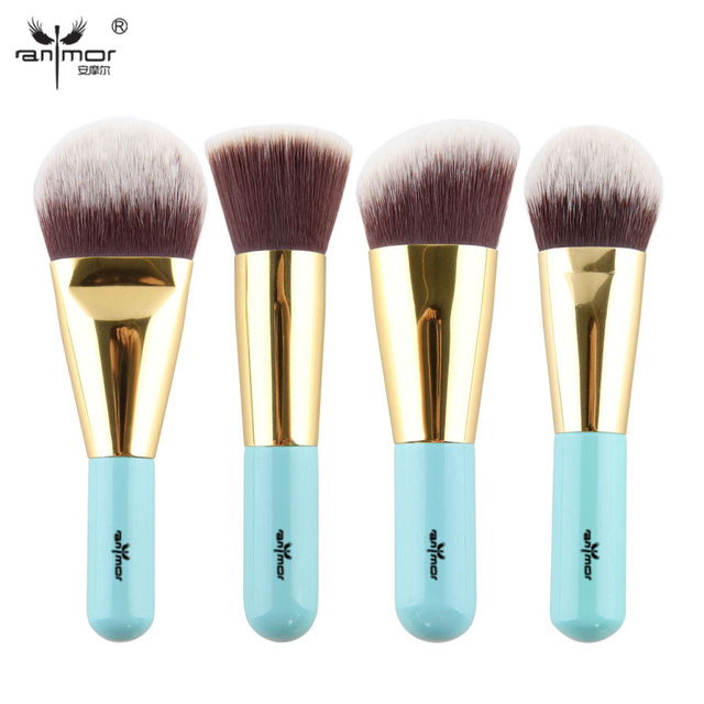 High Quality 4 pcs Kabuki Brushes Synthetic Hair Make Up Brush Foundation Makeup Brush Set Travel Kit Y002