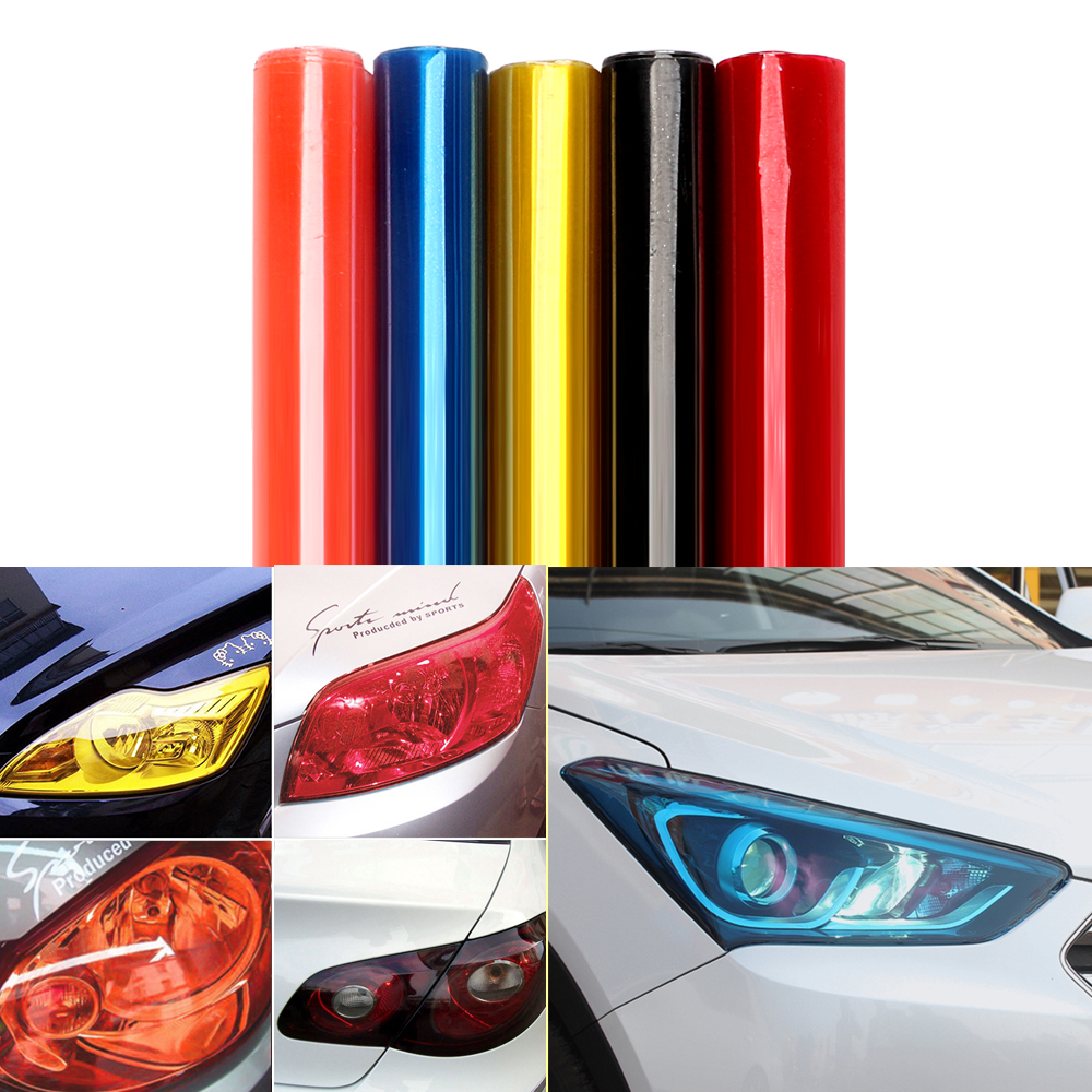 30cm*60cm Car Light Film Wrap Sheet Car Stickers Auto Headlight Taillight Tint Vinyl Film Cover Car Styling Exterior Accessories