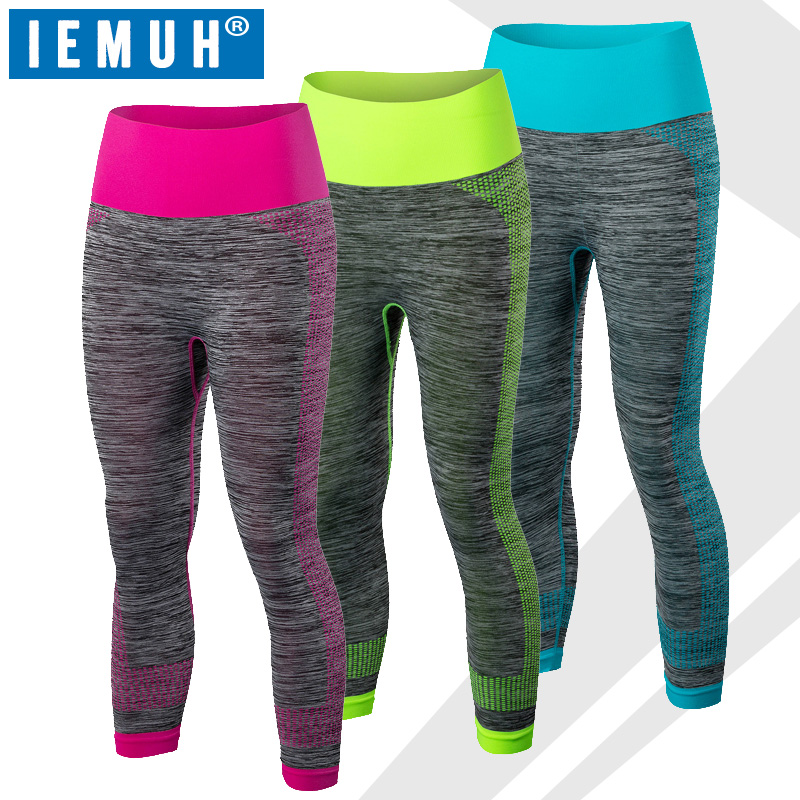 Top Quality Women Sporting Capri Leggings Short Fitness Dancing Pants Sexy Patchwork Elastic Wicking Workout Clothes For Female