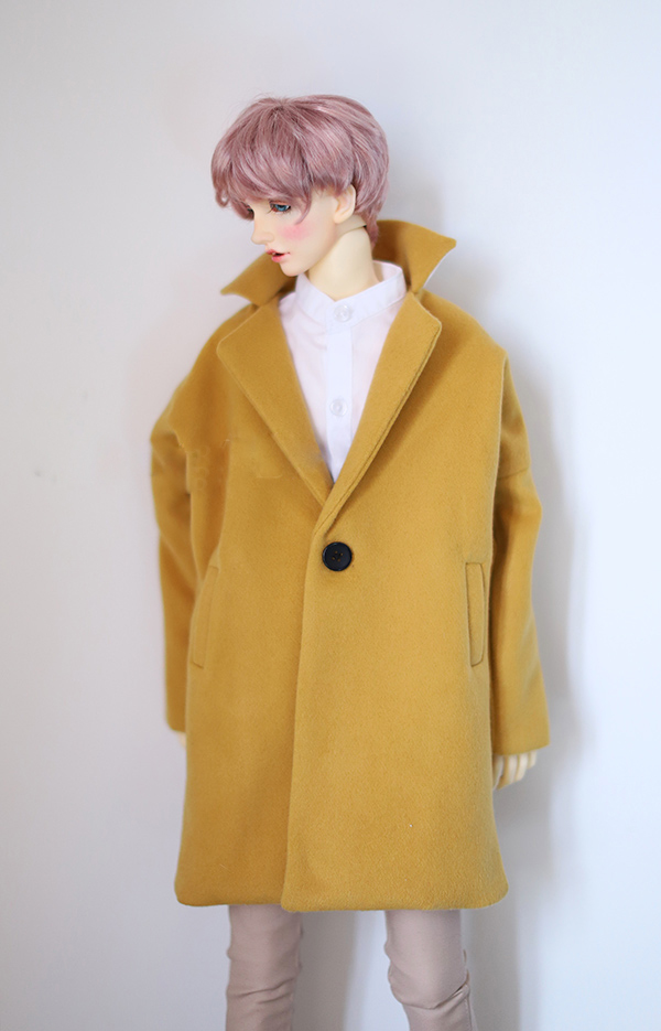 BJD coat ginger color woolen coat suitable for Uncle POPO68 SD17 SSDF ghost 2 doll accessories