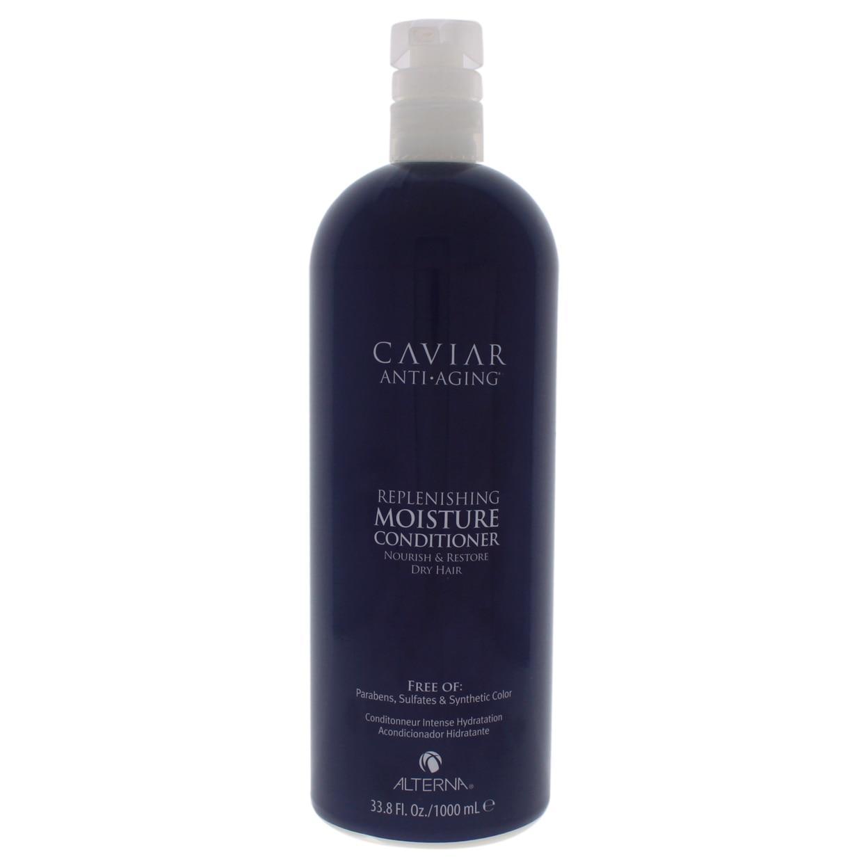 "Caviar Anti Aging Replenishing Moisture Conditioner by Alterna for Unisex - 33.8 oz Conditioner alterna спрей ""идеальная текстура волос"" caviar anti aging perfect texture finishing spray 220ml"