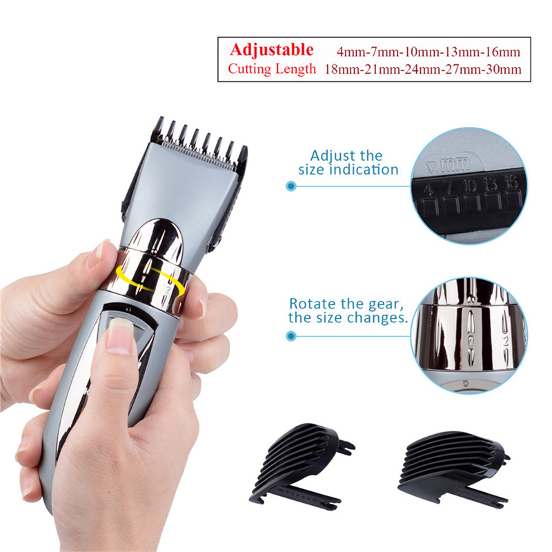 Image 4 - Rechargeable Waterproof Hair Clipper Beard Electric Hair Trimmer Shaver Body Hair Mustache Shaving Trimmer Haircut 55-in Hair Trimmers from Home Appliances