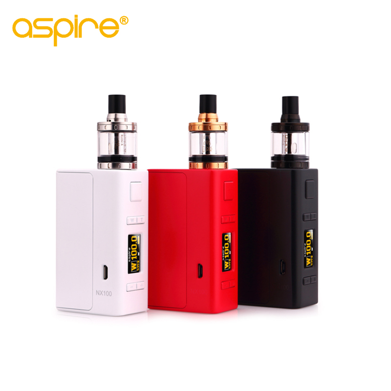 Electronic Cigarette Kit Nautilus X Atomizer Vape Tank 510 Thread + Aspire NX100 Box Mod E Cigarrete Kit  Vaporizer original electronic cigarette mod vape pen smoant charon 218w tc box mod mechanical mod leather cover free shipping
