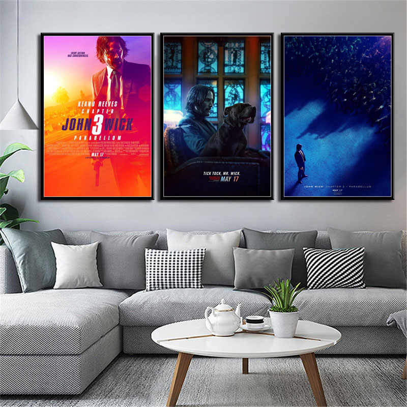 P605 John Wick 3 Parabellum Hot Movie Series Art Painting Silk