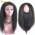 7A Kinky Straight 360 Lace Frontal Closure Pre Plucked Indian 360 Lace Virgin Hair Lace Band Frontals 360 Italian Yaki Frontal